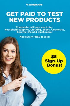 Get Paid to try anything from household supplies to gourmet food!
