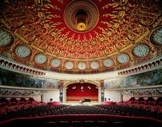 Inside the Romanian Antheneum, Bucharest, Romania