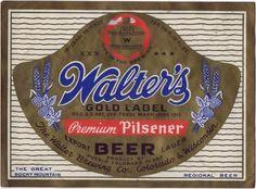 Labels Walter's Premium Pilsener Beer Walter Brewing Company (Post-Prohibition) Pueblo Colorado United States of America  1946