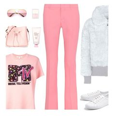 """""""Pink Pants"""" by shoelover220 ❤ liked on Polyvore featuring Vika Gazinskaya, Lacoste, Gucci, Marc Jacobs, RMK, peripera, 3.1 Phillip Lim and pinkpants"""