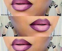 #purple #purpleombre #ombrelipstick