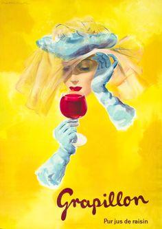 vintage poster | Viktor Rutz,  Grapillon - pur jus de raisin, 1950