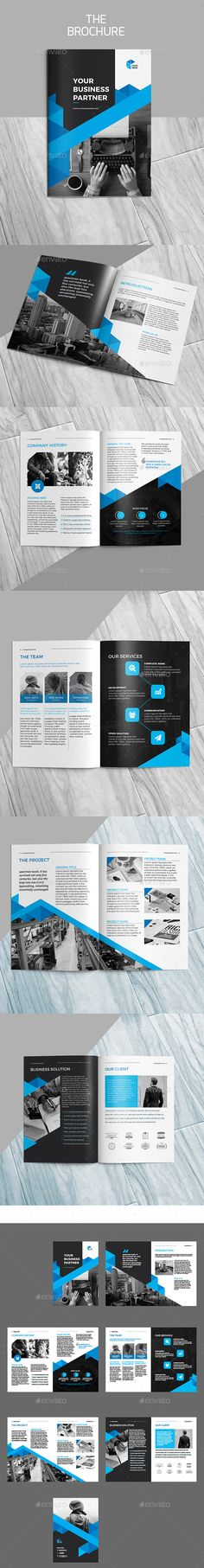 The Brochure - #Brochures Print #Templates Download here: https://graphicriver.net/item/the-brochure/19520513?ref=alena994