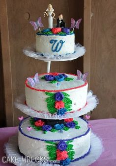 Cake Wrecks - Home - Doilies and Squiggles and Spray Paint, OhMy!