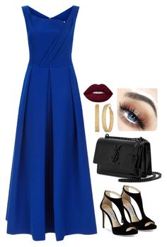 """""""Untitled #307"""" by alibasicelma ❤ liked on Polyvore featuring Preen, Jimmy Choo, Yves Saint Laurent and GUESS"""