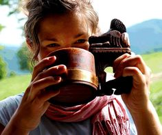 Traditionally, this drink is served in a črpák, a wooden cup with some pastoral scene carved into the handle.