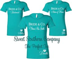 @jennifer_j_krei Bride & Co to go with Tiffany & Co theme! 10 Personalized Bride and Bridesmaids by SweetSouthernCompany