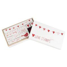 Sweet hearts wooden stamp set from Kikki-K $24.95