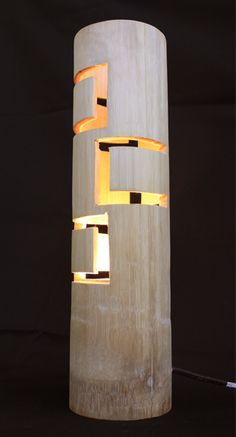 Led lighting design guidelines and chandeliers. Bamboo Light, Bamboo Lamp, Cool Lighting, Lighting Design, Diy Luminaire, Beton Design, Bamboo Design, Bamboo Crafts, Bamboo Furniture