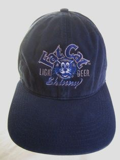 Fat Cat Light Beer Hat Skinny Embroidered Strap Back Ball Cap Brewing #FatCatBeer #LightBeer #cats #catlovers #catsandbeer #drinkup #skinnybeer