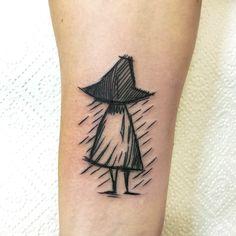 #tattoo #ink #moomins #black #snufkin #kudu