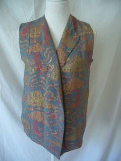 Vintage brocade waistcoat which needed sleeves added