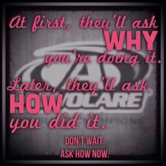 Ask me how! http://www.advocare.com/130855431