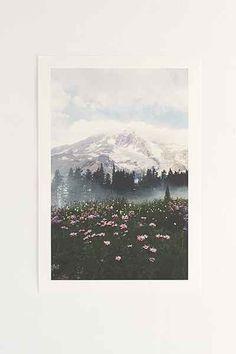 Kevin Russ Mount Rainier Art Print - Urban Outfitters