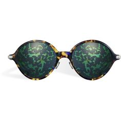 """DIOR UMBRAGE"" SUNGLASSES, GREEN featuring polyvore, women's fashion, accessories, eyewear, sunglasses, green sunglasses and green glasses"