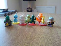 Final Fantasy creatures Coca Cola figures and other bits - Setzer, tonberry, chocobo, moogle, pupu, frog, cactuar.