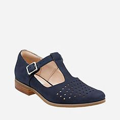 Hotel Vibe Navy Nubuck - Women's Casual Shoes - Clarks® Shoes