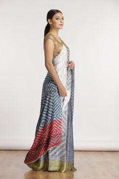 Geometric Tie Dye Saree - The Saree