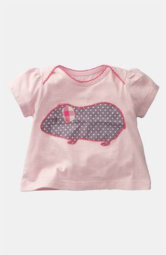 Mini Boden 'Pretty Appliqué' Tee (Infant) available at Nordstrom