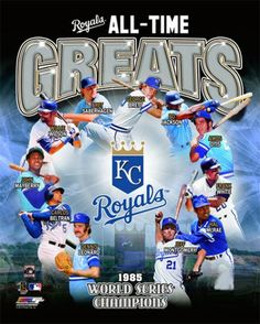Kansas City Royals Baseball All-Time Greats (11 Legends) Premium Poster Print - available at www.sportsposterwarehouse.com
