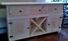 Console/buffet table. Full plans.