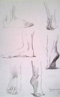 Siguiendo con el estudio de anatomía, los pies   Feet study Stick Figures, Art Graphique, Art Techniques, Drawings, Illustration, Body Parts, Painting, Inspire, Character