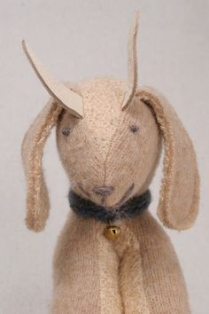 Felted Cream goat toy soft toy for baby or toddler. $25.00, via Etsy.