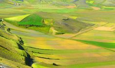 Stunning colours from the 'Great Plains' near Norcia, Umbria.