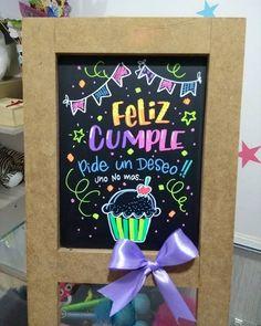 para desearle un feliz cumple a una personita muy especial Creative Birthday Cards, Diy Birthday, Birthday Gifts, Happy Birthday, Chalkboard Doodles, Chalkboard Art, Love Gifts, Diy Gifts, Gifts For My Boyfriend