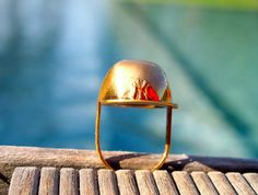 The NY Caskate - Polished Bronze #jeanlouiscasquette #capring wwwjeanlouiscasquette.com