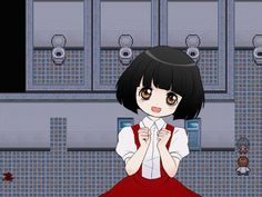 From the rpg game Misao, its the creepy little bathroom stall girl