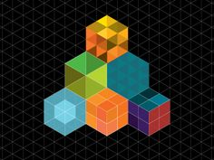 Dribbble - Experimentation with the isometric grid by Liam rennie-Jeffries