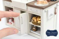 Miniature cabinet counter #miniaturekitchen #miniaturefurniture