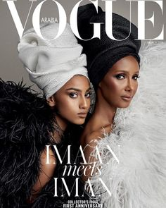 Iman and Imaan Hammam Cover Vogue Arabia March 2018 Issue. Photo: Patrick Demarchelier