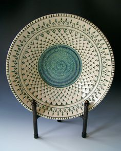 Ceramic Serving Bowl Handmade WheelThrown by riverstonepottery