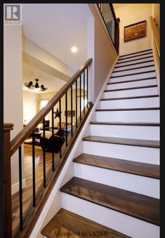 Stylish 48 Classy Indoor Home Stairs Design Ideas For Home Indoor Stair Railing, Interior Stair Railing, Iron Stair Railing, Wrought Iron Stairs, House Staircase, Iron Staircase, Staircase Remodel, Staircase Railings, Banisters