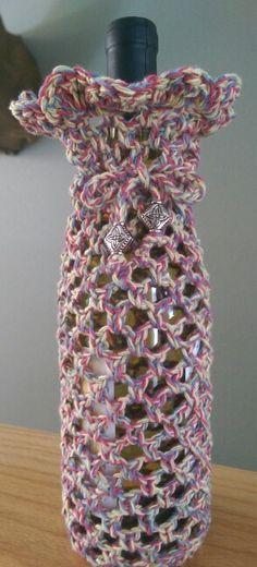 Free Pattern Video Tutorial Crocheted Wine Bottle Cozy