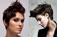 short haircuts for women 2018 are the base of short choppy haircuts Short Haircuts With Bangs, Popular Short Hairstyles, Short Hairstyles For Women, Hairstyles Haircuts, Blonde Haircuts, Short Bangs, Very Short Hair, Short Hair Cuts For Women, Short Hair Styles