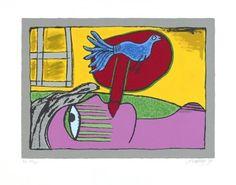 Corneille: Zeefdruk, Regard sur l'oiseau