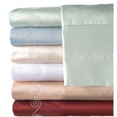 Veratex, Inc. Supreme Sateen 500-Thread Count Swirl Pillowcases, 2pk, White