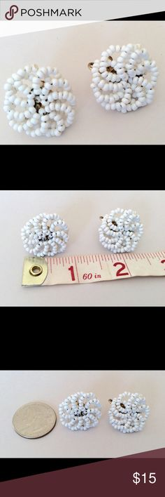 💕💕💕3 for $20 Sale Details description earrings 💕💕💕 3 for $20 SALE Bundle 3 items from my closet with 💕💕💕 in the title,  are an offer of $20 and I will accept it.  These fabulous vintage earrings feature a screw back and lovely seed bead design. Vintage Jewelry Earrings