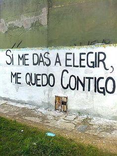 Solo contigo… #streetart #muros