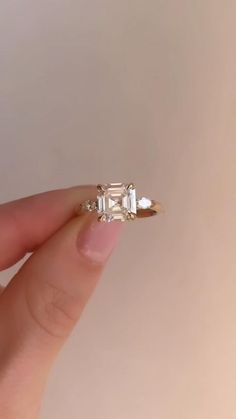 Unconventional Engagement Rings, Yellow Engagement Rings, Beautiful Engagement Rings, Engagement Ring Cuts, Beautiful Rings, Different Engagement Rings, Platinum Engagement Rings, Diamond Rings, Asscher Cut Diamond Ring