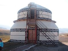 Photo via Terry Rhanea  Can you believe this 2 story Yurt ? Two story Yurta near Too Ashu.~