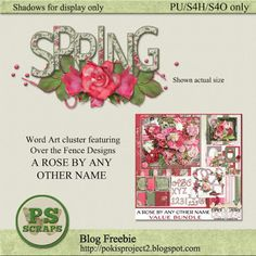 Designer freebie featuring Over the Fence Designs A ROSE BY ANY OTHER NAME - Collect this gift at my blog http://pokisproject2.blogspot.com/2016/04/designer-freebie-442016.html
