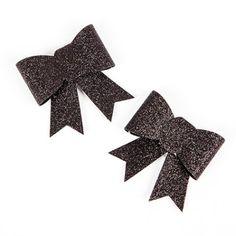 Ces magnifiques nœuds pailletés sur pince peuvent être utilisés : en marque place, en rond de serviette, sur un verre, pour une table 100 % glamour !
