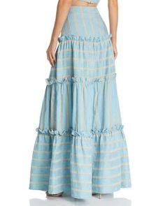 Diy Maxi Skirt, Maxi Skirt Style, Womens Maxi Skirts, Maxi Skirt Fashion, Girl Skirts, Trendy Dresses, Summer Dresses, Handmade Skirts, African Attire