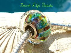 AKELA OPAL Fully Lined Sterling Silver Big Hole by beachlifebeads, $17.50