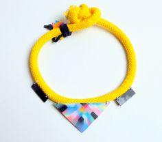 Szamanka Design Spring 2013 - Yellow Bound Choker Two