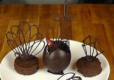 Chocolate Garnishes - Chocolate Decorations - Pastry Plating - How to Re...